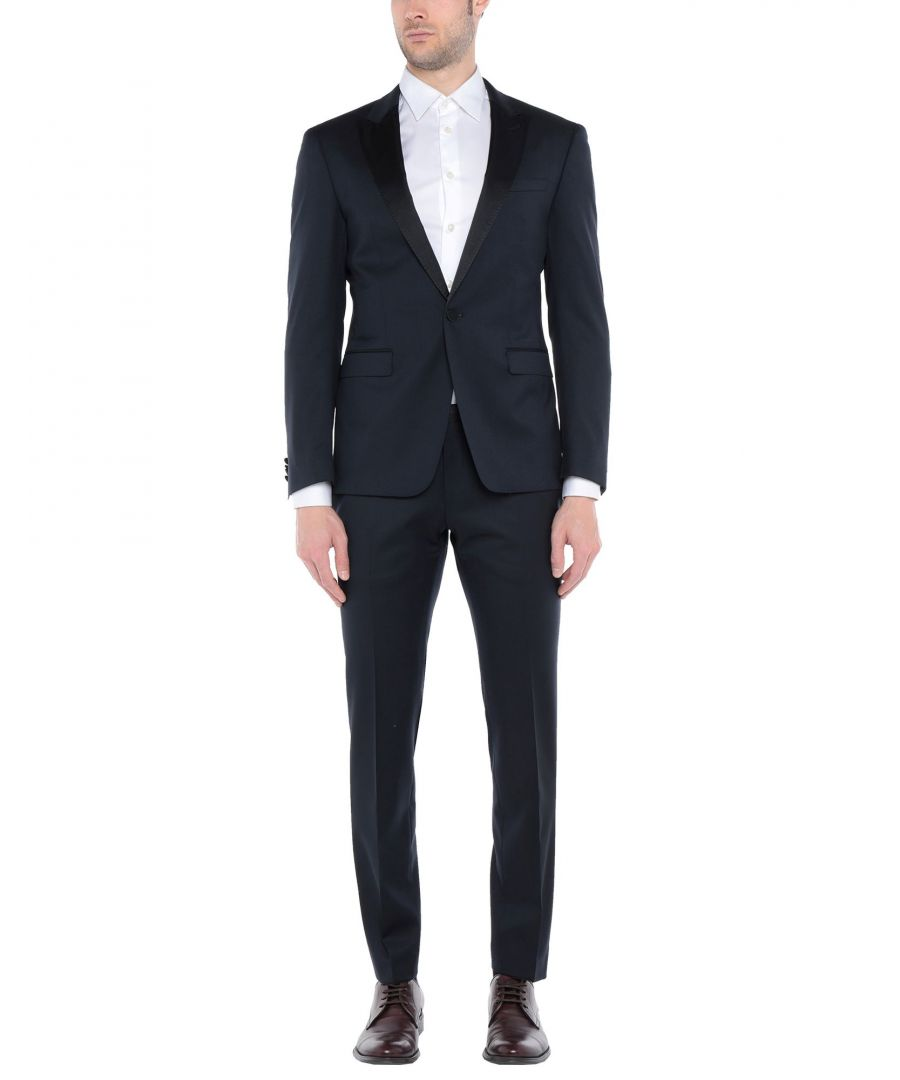 Image for Boss Hugo Boss Dark Blue Virgin Wool Suit