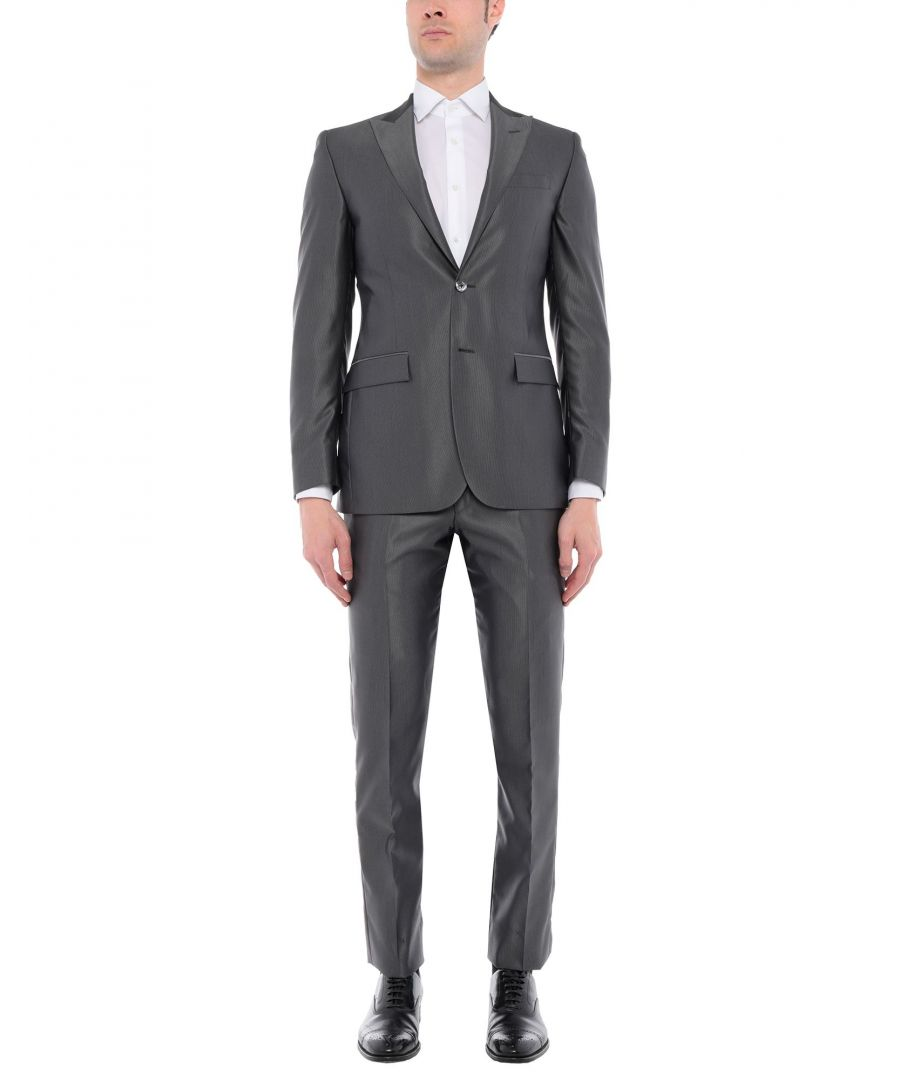 Image for CC Collection Corneliani Lead Virgin Wool Single Breasted Suit