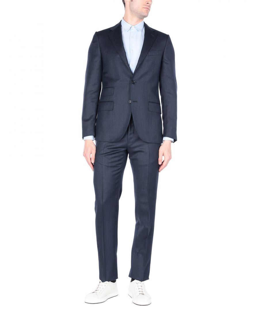Image for Caruso Dark Blue Wool Single Breasted Suit