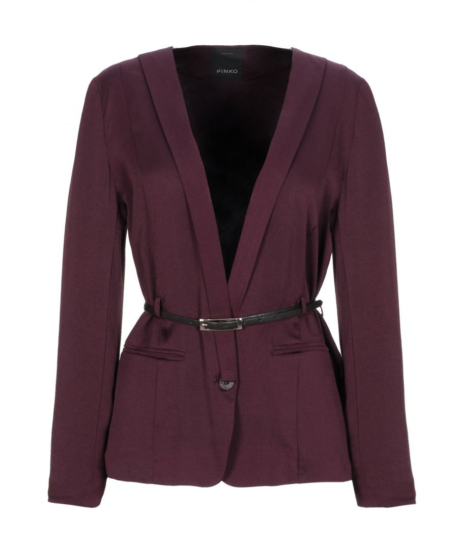 Image for Pinko Deep Purple Belted Jacket