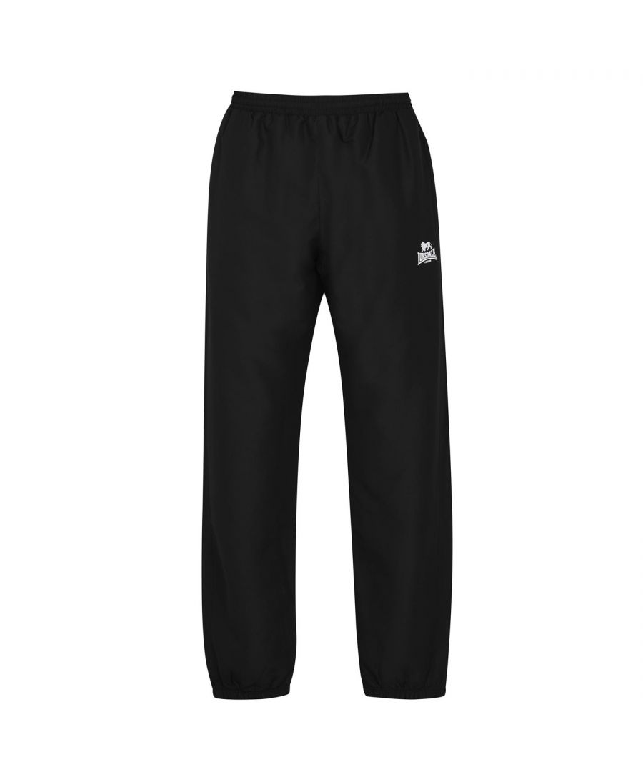 Image for Lonsdale Mens Closed Hem Woven Pants Trousers Sports Running Gym Bottoms