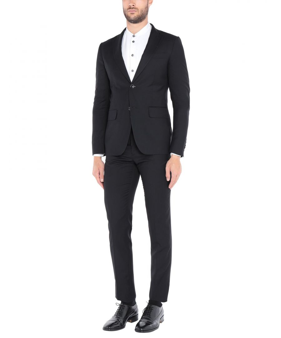 Image for Roberto Cavalli Black Single Breasted Suit