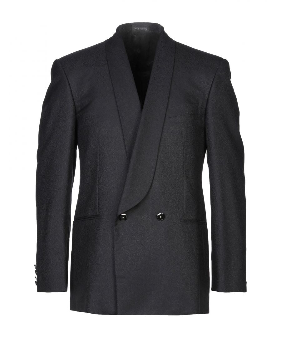 Image for Pierre Cardin Black Silk Double Breasted Jacket