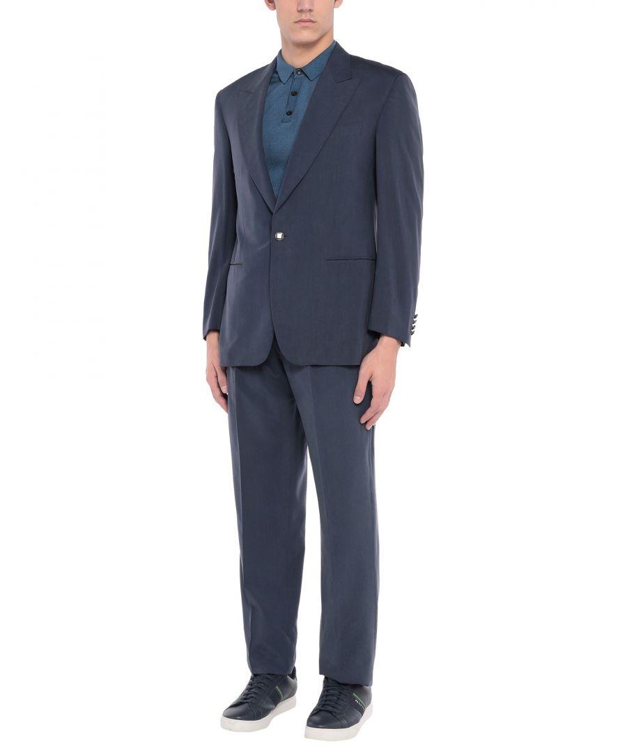 Image for Pierre Cardin Dark Blue Silk Single Breasted Suit