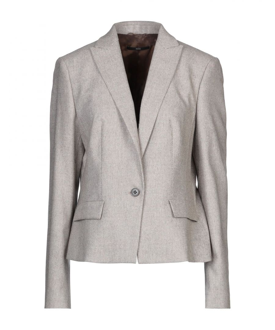 Image for Boss Hugo Boss Beige Virgin Wool Single Breasted Blazer