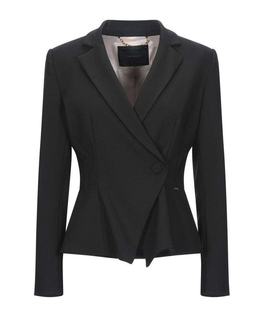 Image for Nenette Black Crepe Double Breasted Jacket