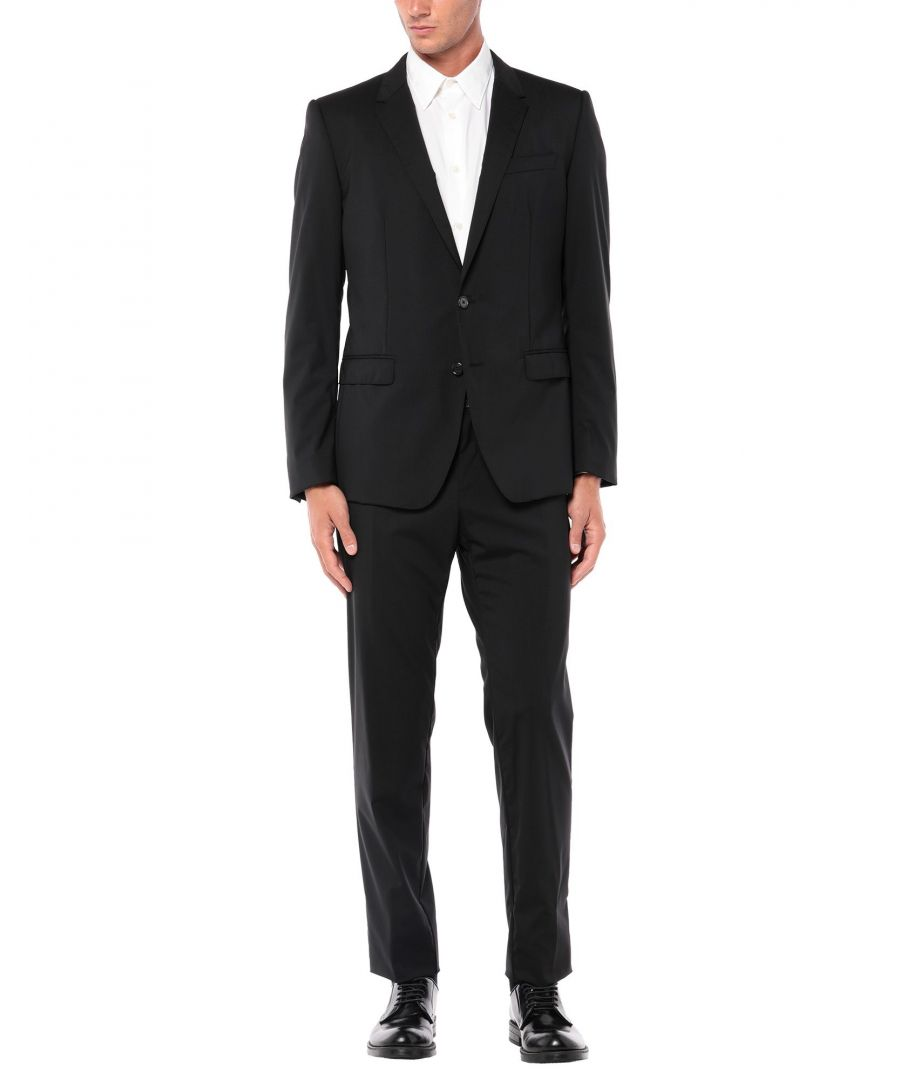 Image for Dolce & Gabbana Black Angora Single Breasted Suit