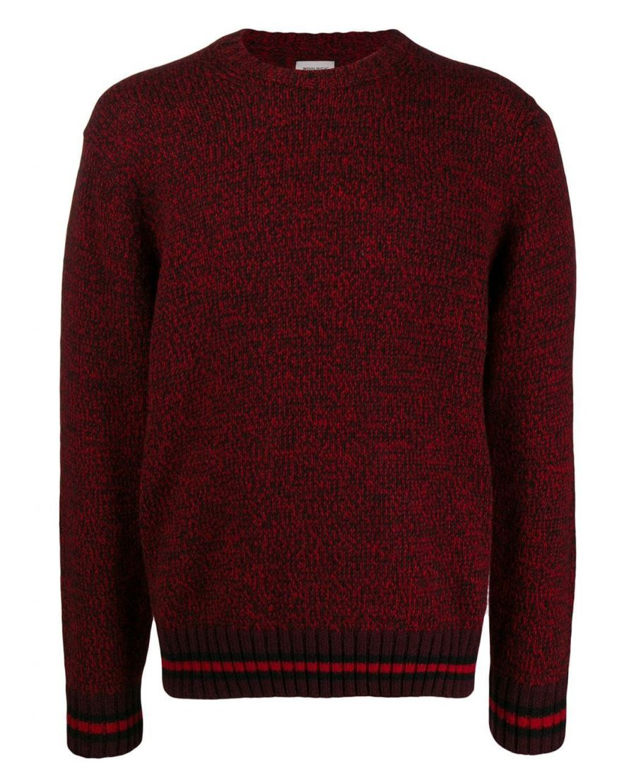 Image for WOOLRICH MEN'S WOMAG1871UF03545405 RED WOOL SWEATER