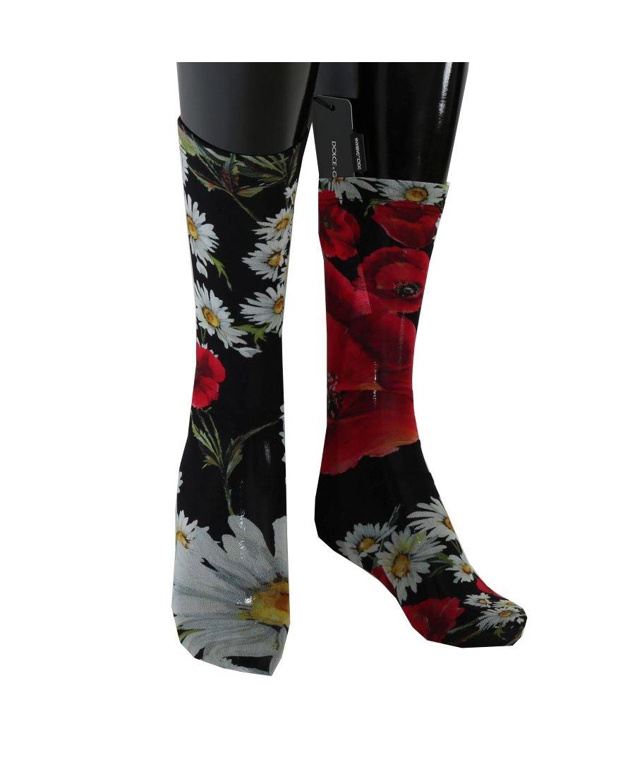 Image for Dolce & Gabbana Multicolor Floral Roses Nylon Socks