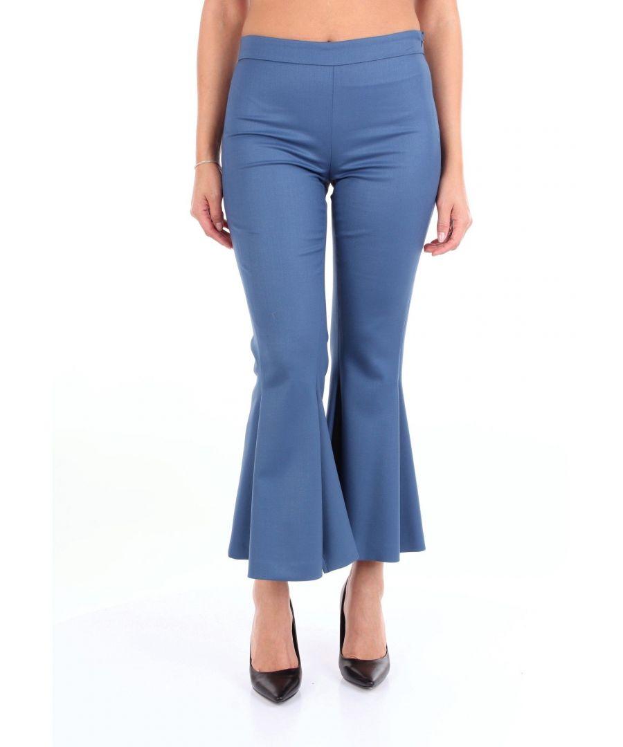Image for MARCO DE VINCENZO WOMEN'S MR5083ALIGHTBLUE BLUE FABRIC PANTS