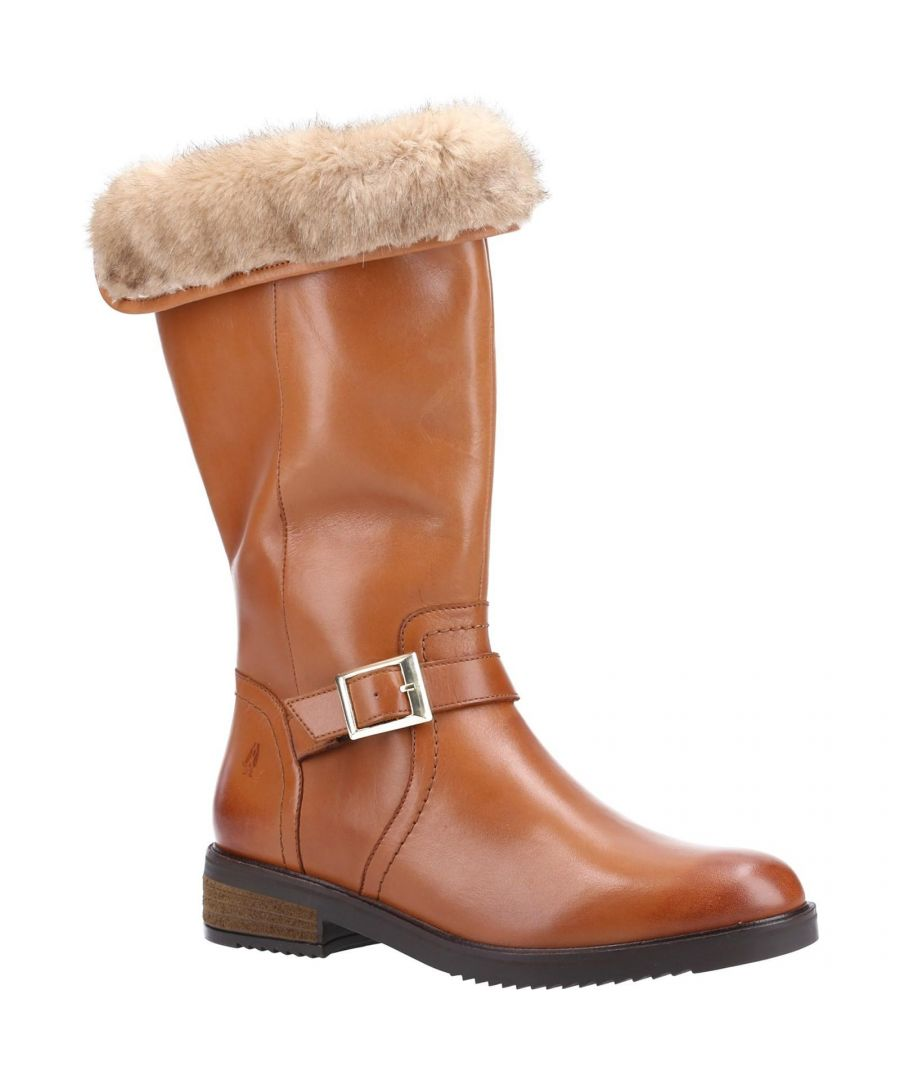 Image for Hush Puppies Women's Bonnie Leather Mid Boots (Tan)
