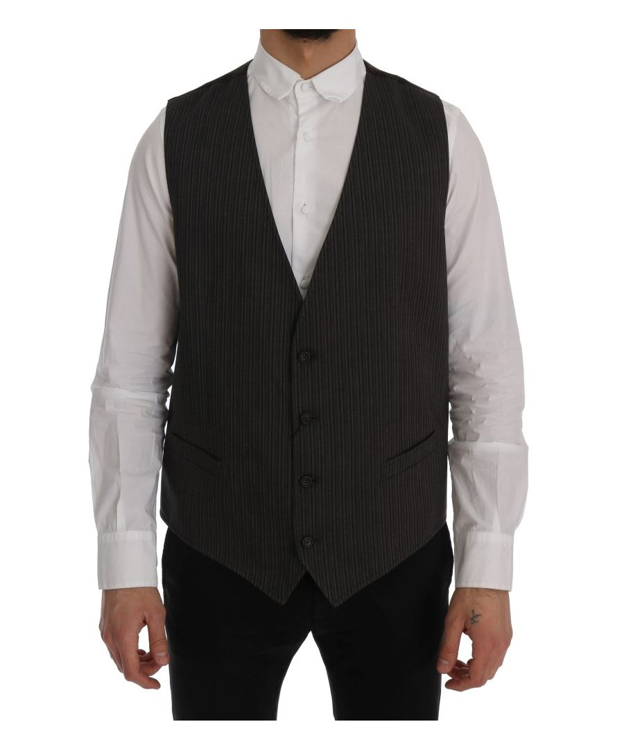 Image for Dolce & Gabbana Brown STAFF Cotton Rayon Vest