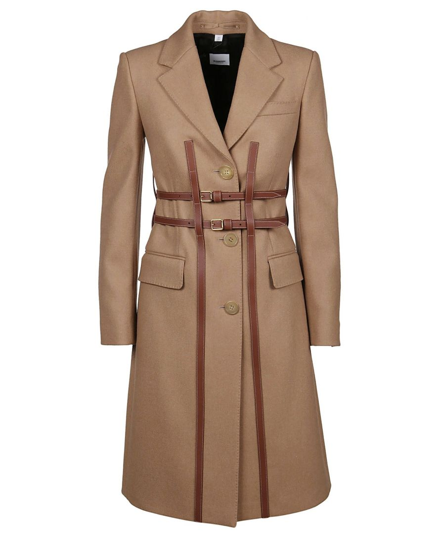Image for BURBERRY WOMEN'S 8014171 BROWN WOOL COAT