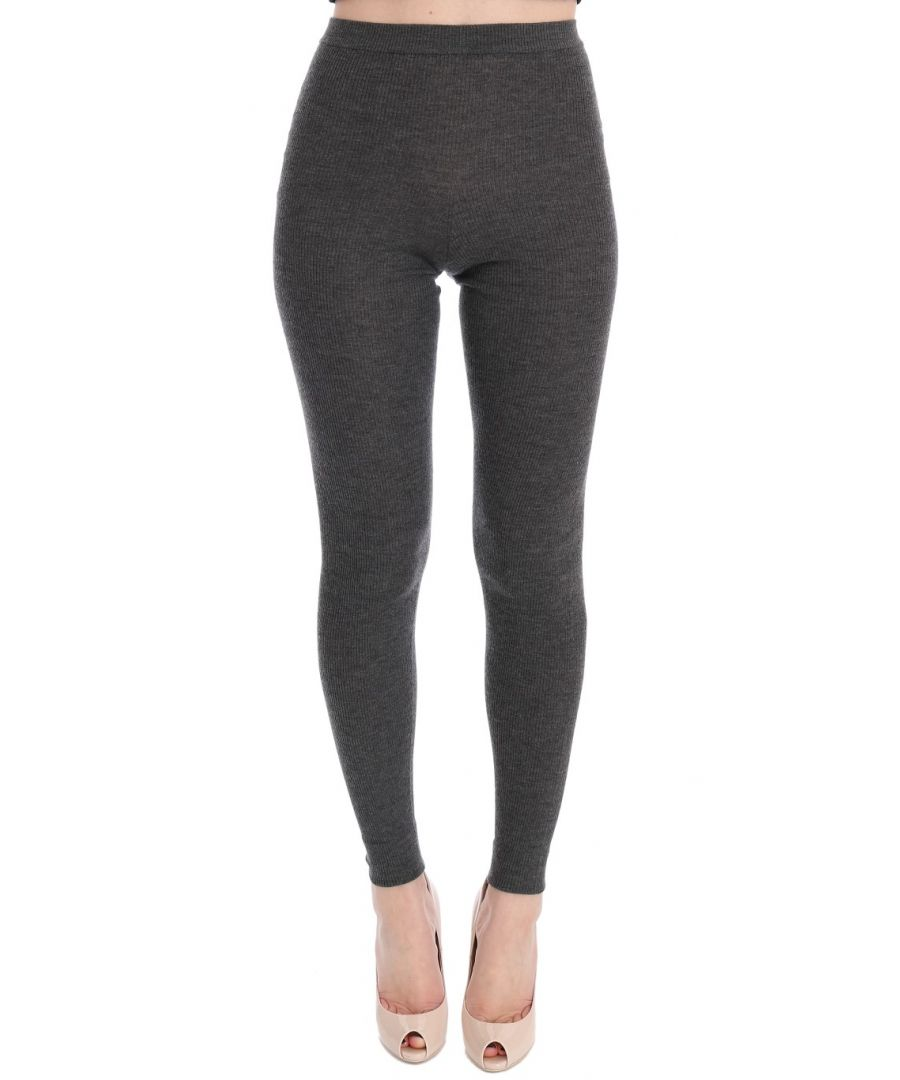 Image for Dolce & Gabbana Gray Cashmere Stretch Tights
