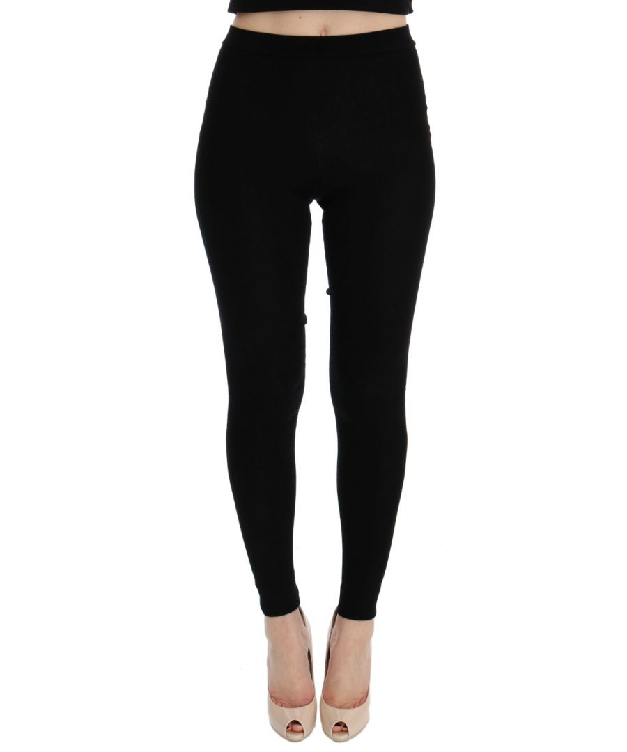 Image for Dolce & Gabbana Black Cashmere Stretch Tights
