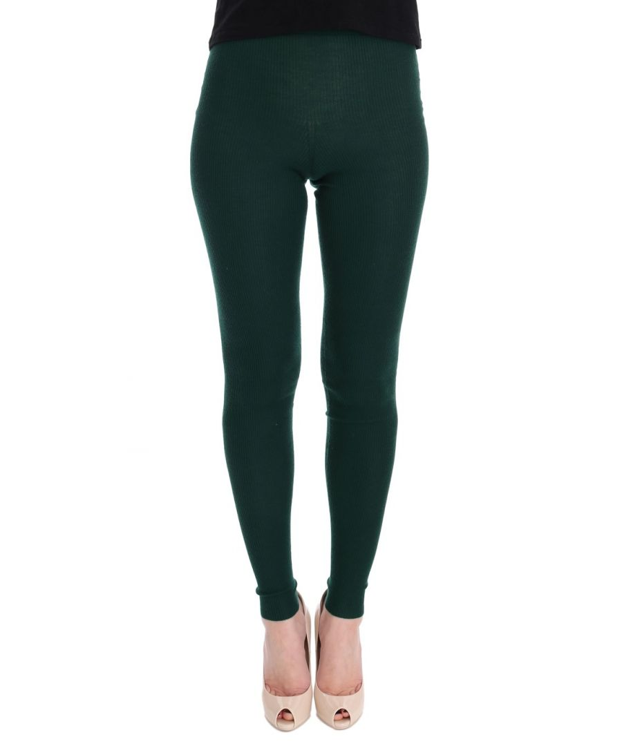 Image for Dolce & Gabbana Green Cashmere Stretch Tights
