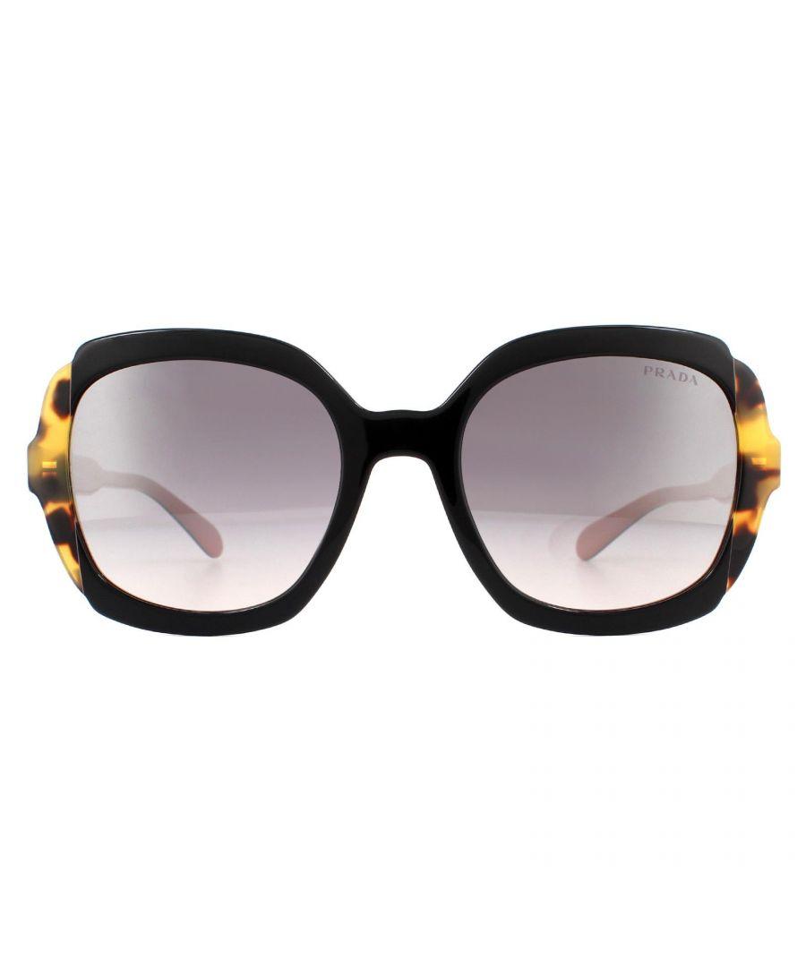 Image for Prada Sunglasses PR16US 5ZWGR0 Top Black Pink Havana  Pink Gradient Violet Silver Mirror