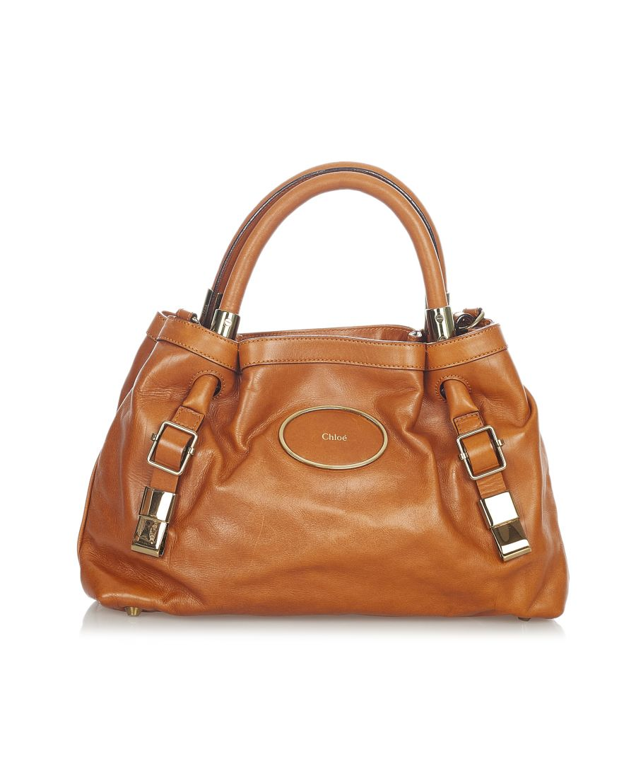 Image for Vintage Chloe Victoria Leather Satchel Brown