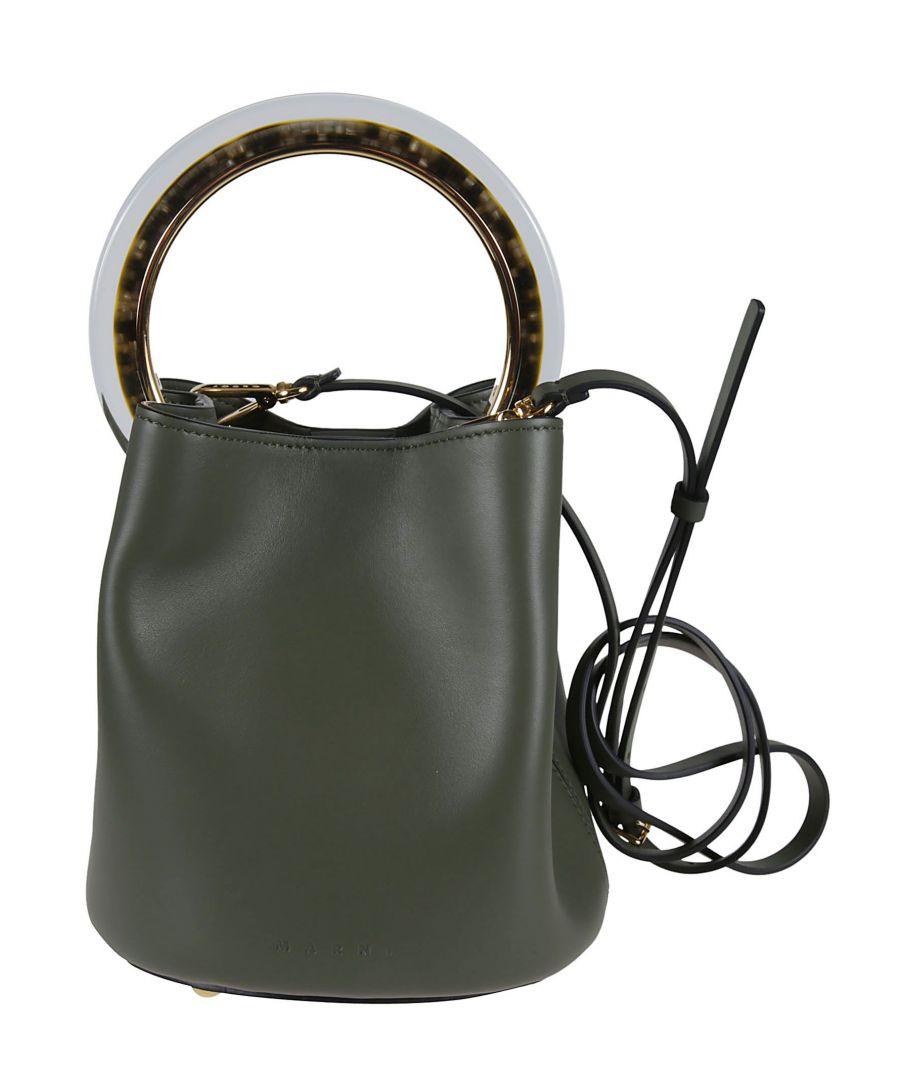 Image for MARNI WOMEN'S SCMPU09T28LV58900V59 GREEN LEATHER SHOULDER BAG