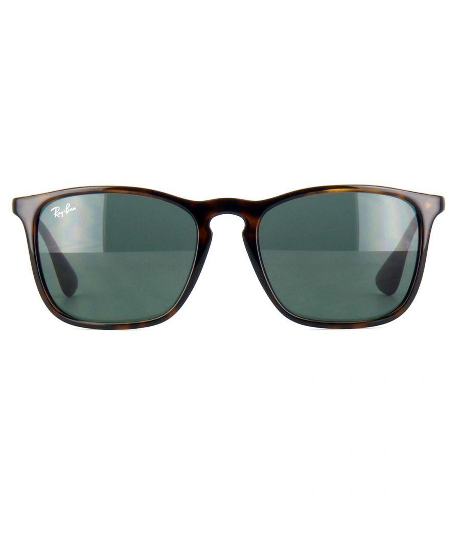 Image for Ray-Ban Sunglasses Chris 4187 710/71 Tortoise & Gunmetal Green