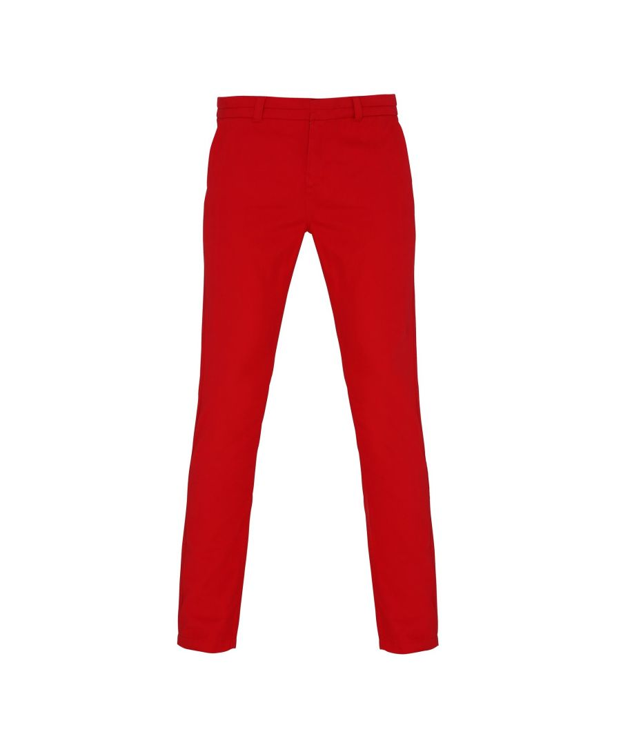 Image for Asquith & Fox Womens/Ladies Casual Chino Trousers (Cherry Red)