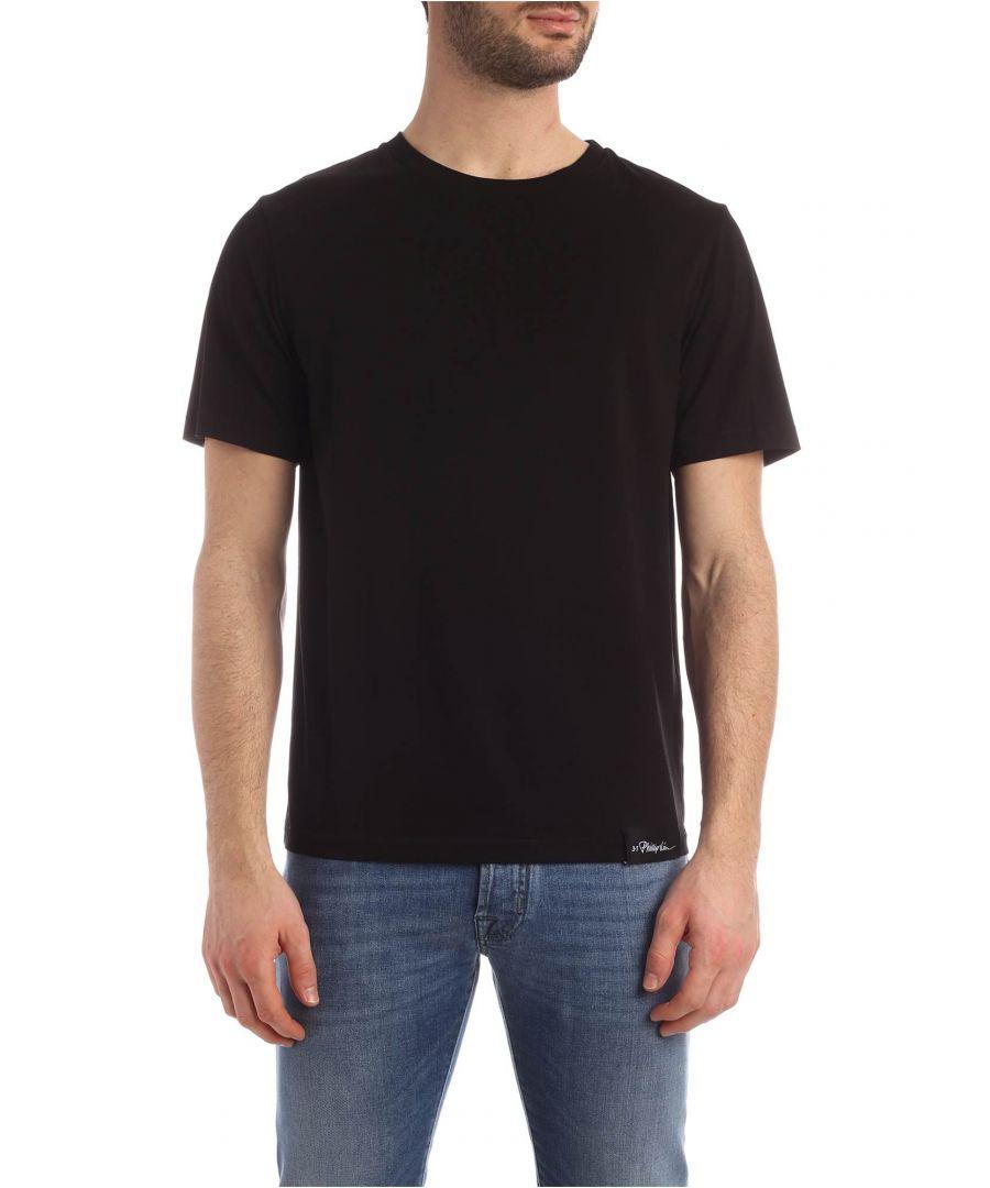 Image for 3.1 PHILLIP LIM MEN'S S2011438NLJMBA001 BLACK COTTON T-SHIRT