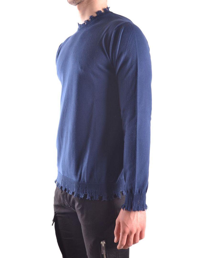 Image for DANIELE ALESSANDRINI MEN'S FM91115370123 LIGHT BLUE COTTON SWEATER