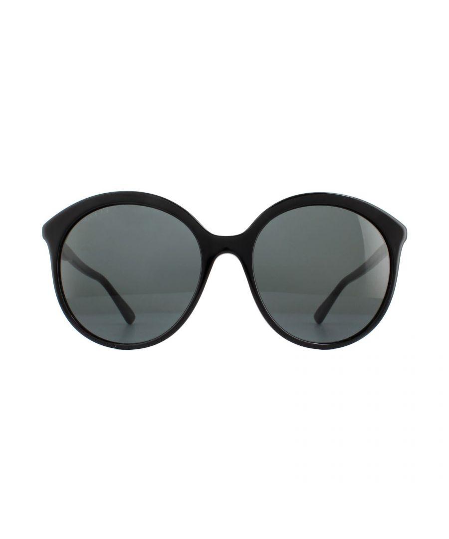 Image for Gucci Sunglasses GG0257S 001 Black Grey