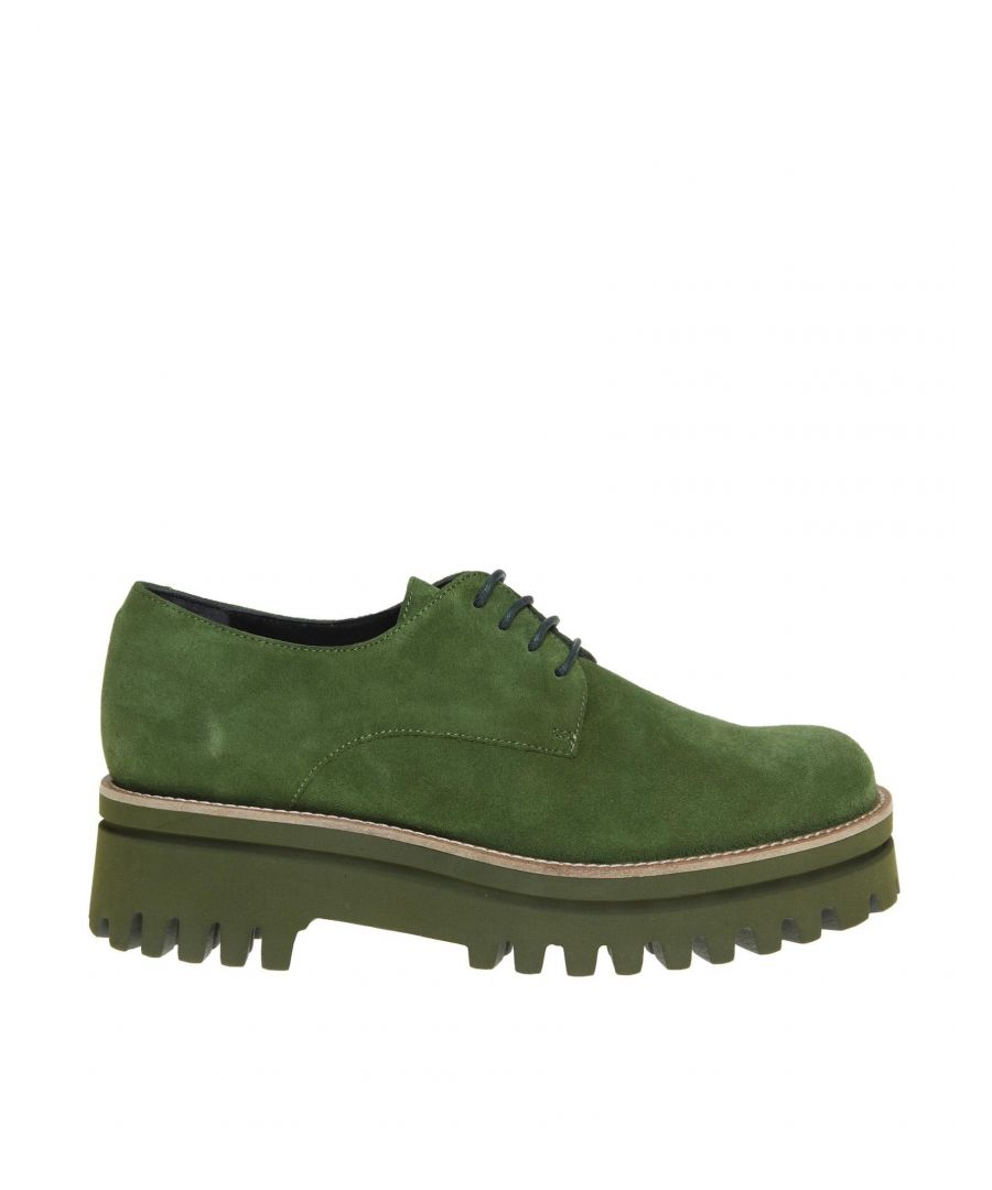 Image for PALOMA BARCELÓ WOMEN'S AMAGREEN GREEN SUEDE LACE-UP SHOES