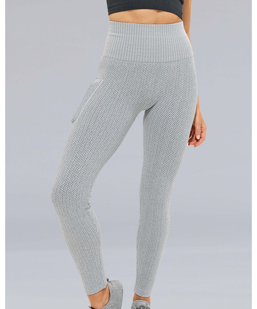 Image for Knitted City Leggings in Grey
