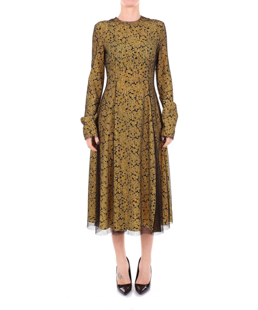 Image for CÉDRIC CHARLIER WOMEN'S A043389412555 GOLD VISCOSE DRESS