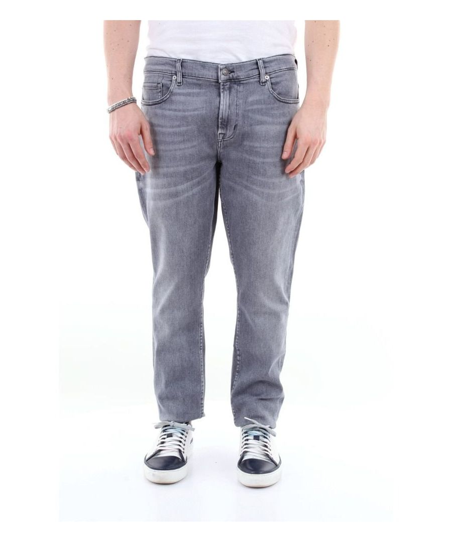 Image for 7 FOR ALL MANKIND MEN'S JSMVR860GSGRIGIO GREY COTTON JEANS