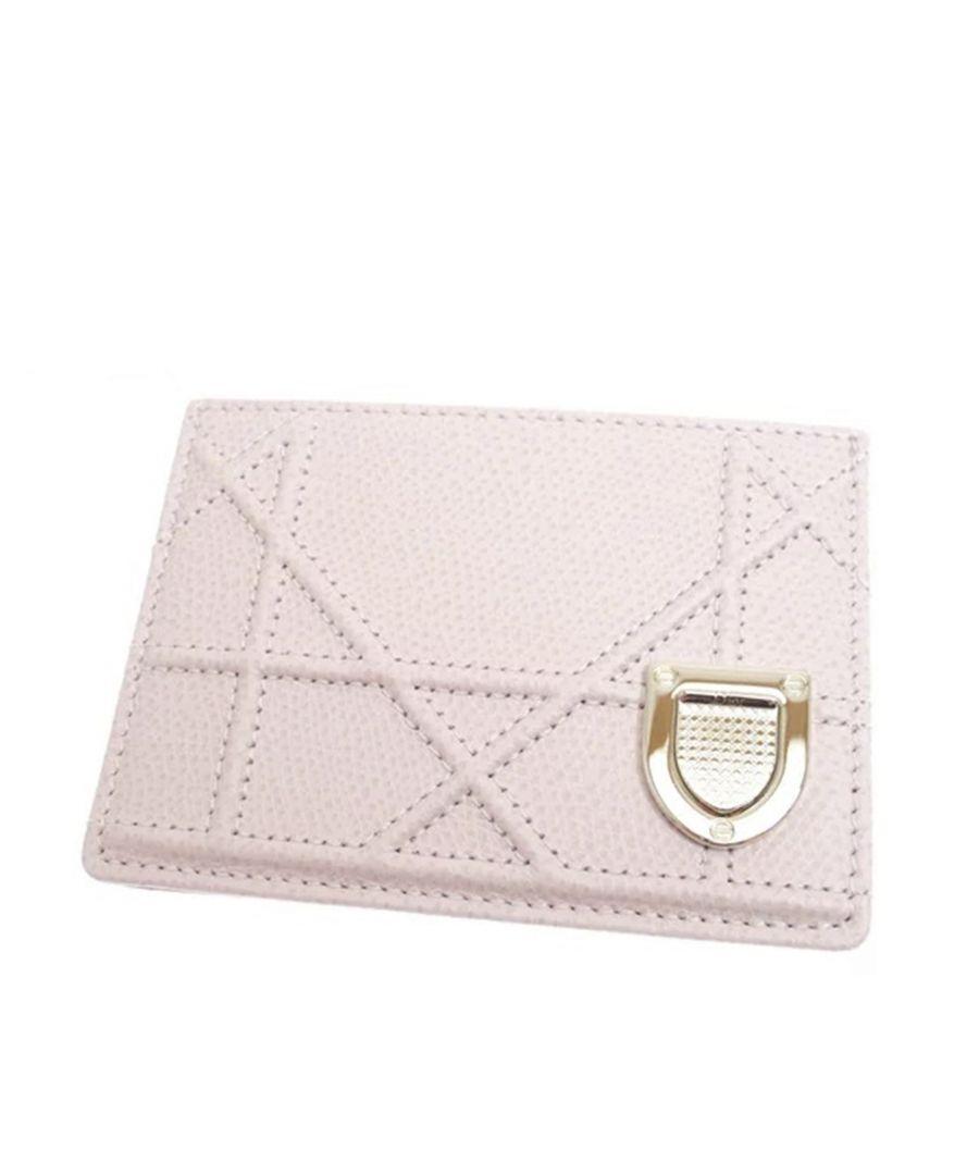 Image for Vintage Dior Diorama Leather Card Holder Pink