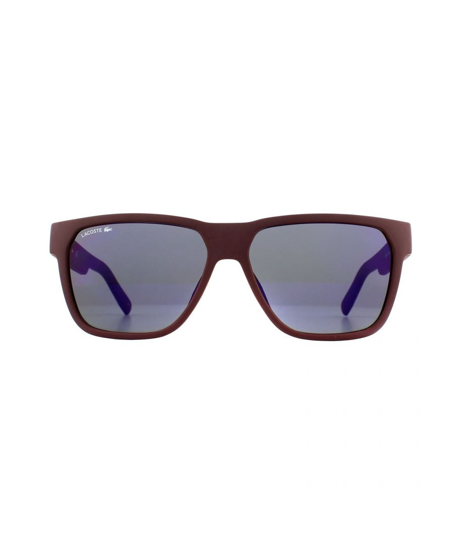 Image for Lacoste Sunglasses L867S 604 Matte Burgundy Red Grey