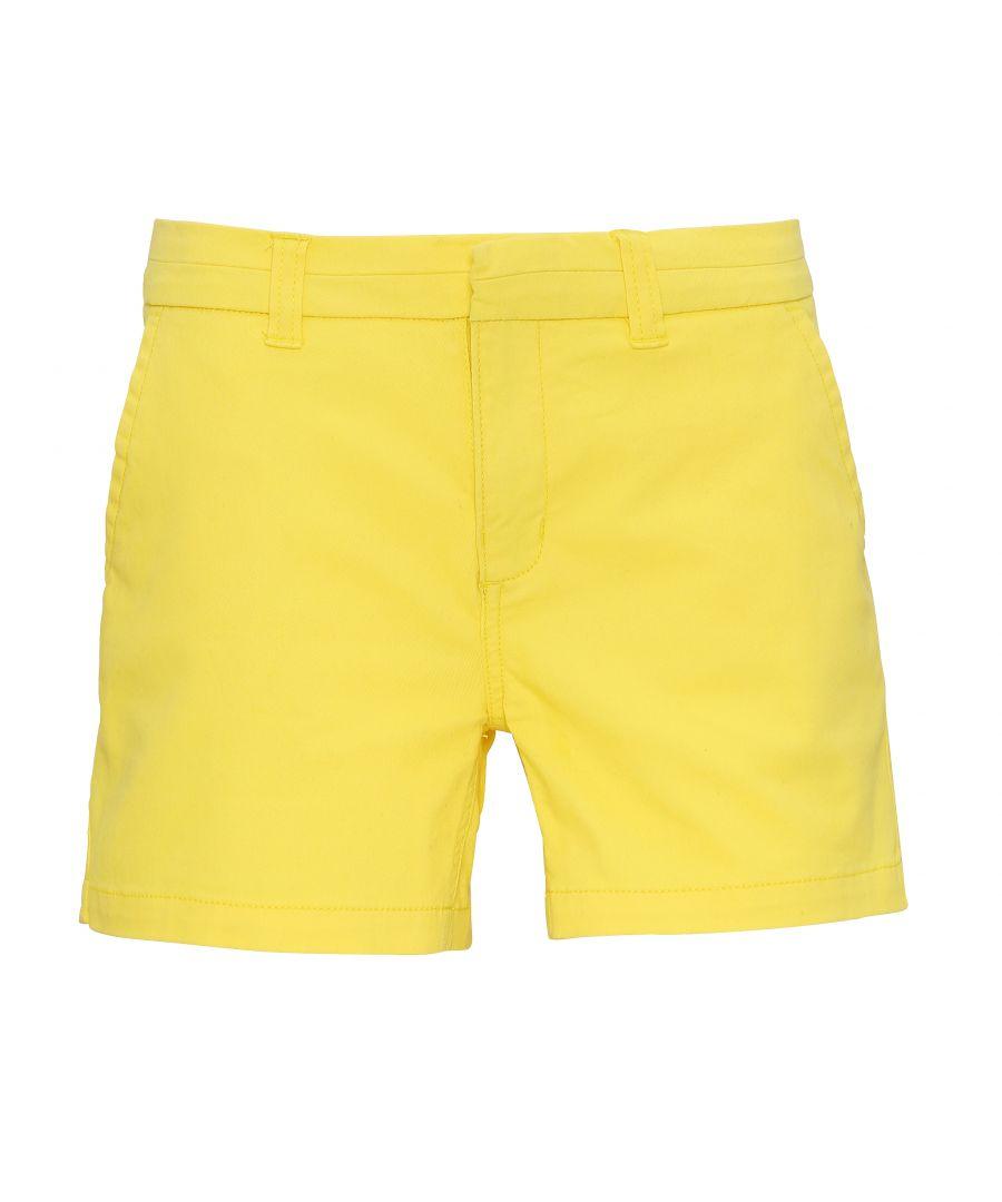 Image for Asquith & Fox Womens/Ladies Classic Fit Shorts (Lemon Zest)
