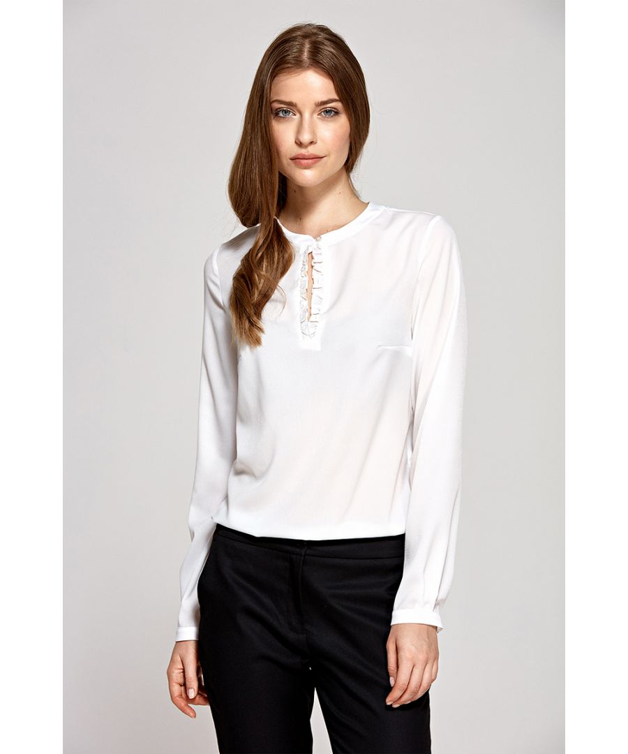 Image for Blouse With Tear On Neckline