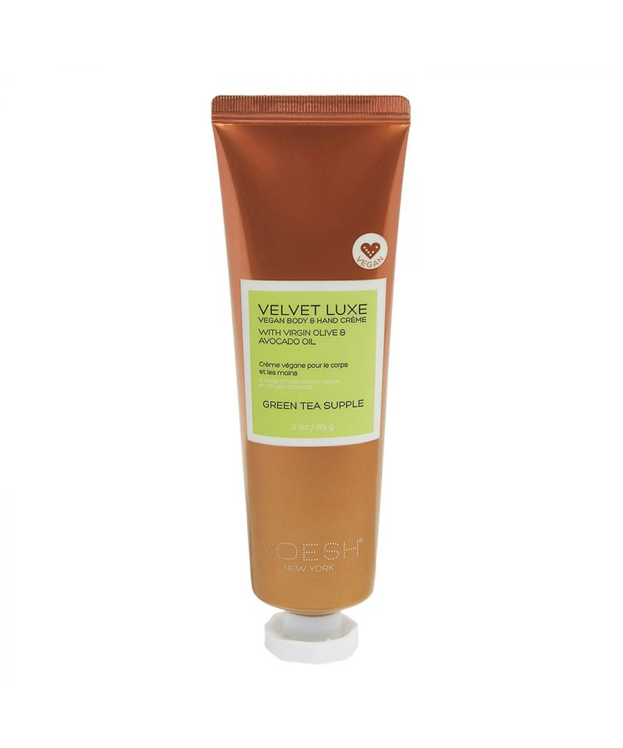 Image for Voesh Velvet Luxe Vegan Body & Hand Creme Green Tea Supple 85g