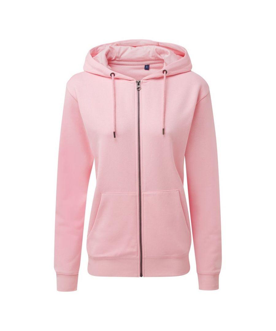 Image for Asquith & Fox Women's Zip-Through Organic Hoodie (Soft Pink)