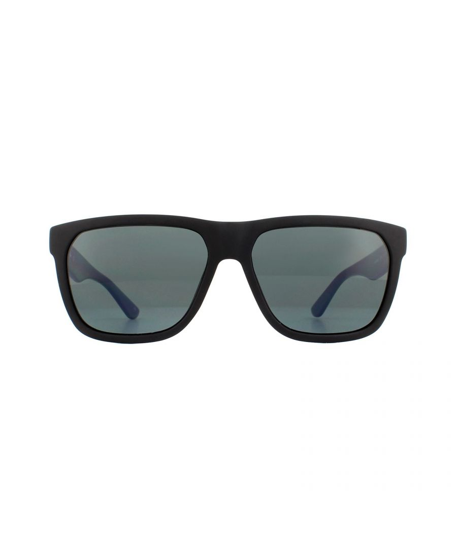 Image for Lacoste Sunglasses L732SP 002 Matte Black and Blue Grey