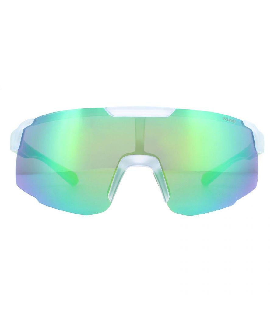 Image for Polaroid Sport Sunglasses PLD 7035/S 2M4/5Z Matte Crystal Grey Green Mirror Polarized
