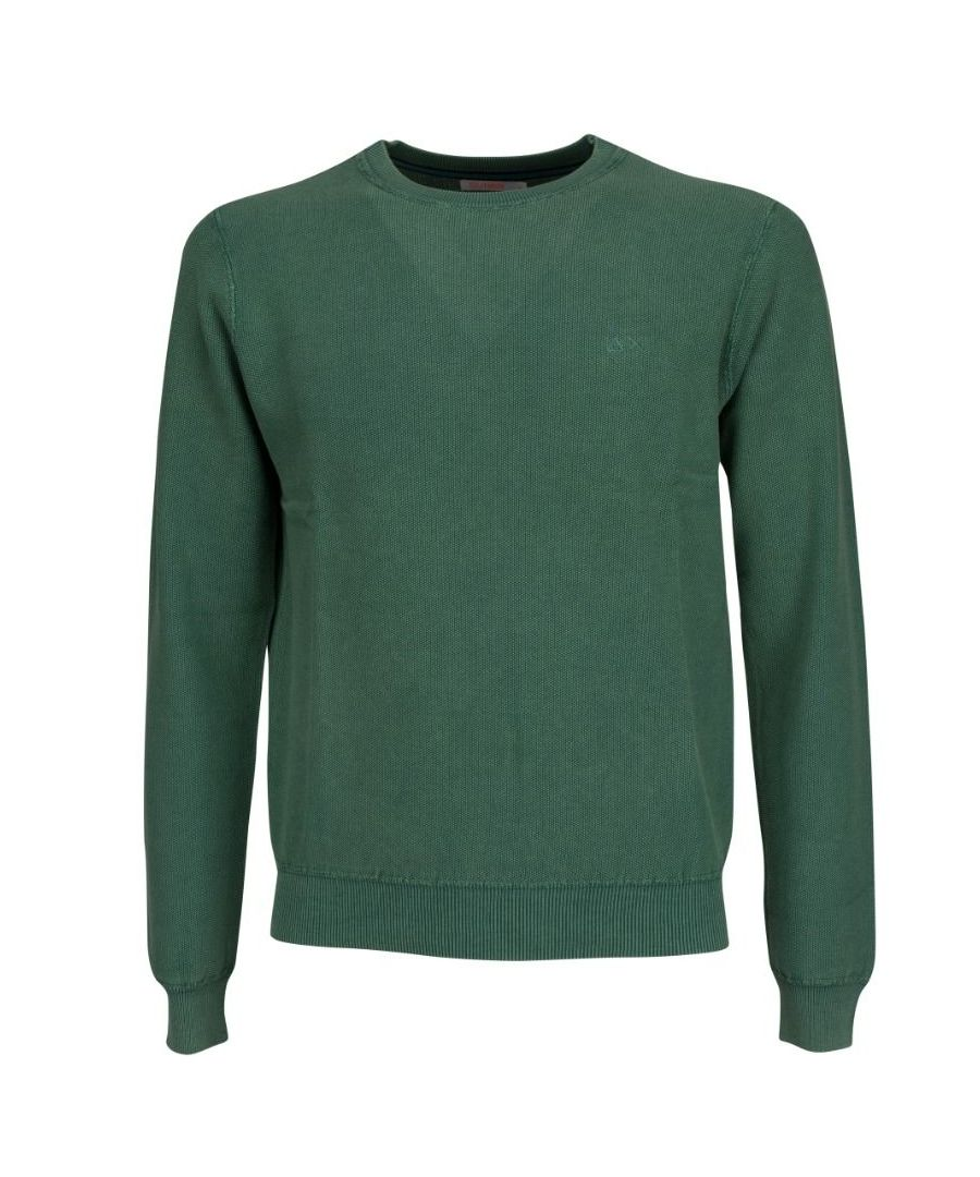 Image for SUN 68 MEN'S K3010988 GREEN COTTON SWEATER