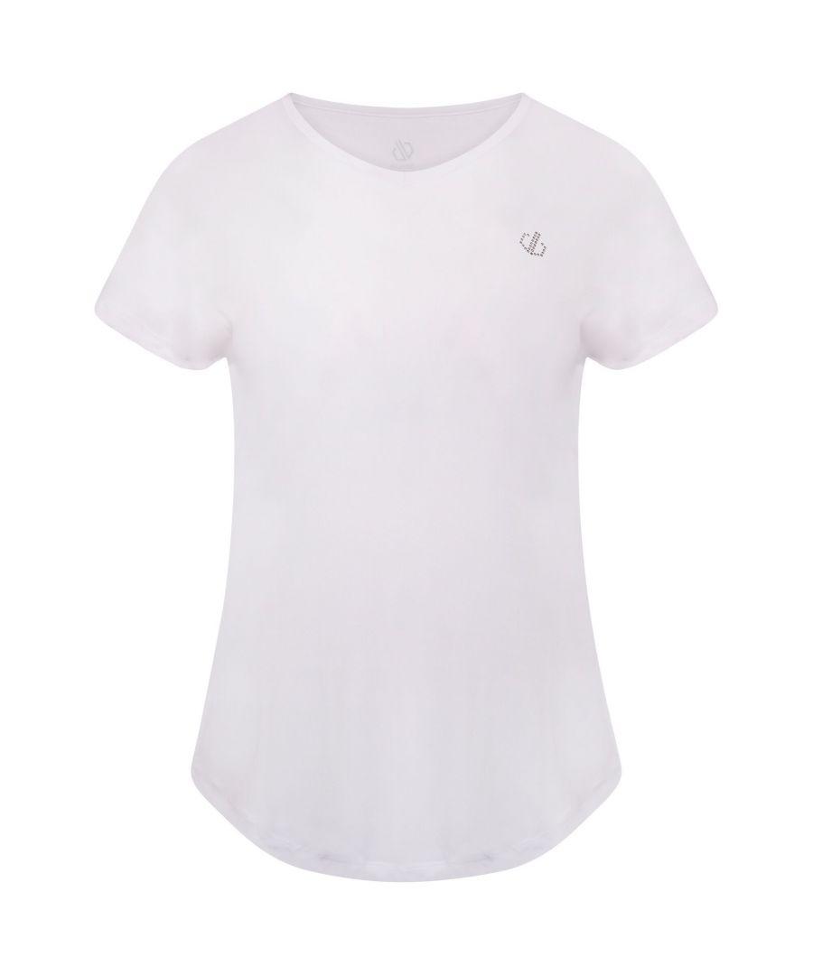 Image for Dare 2B Womens/Ladies Agleam Swarovski T-Shirt (White)