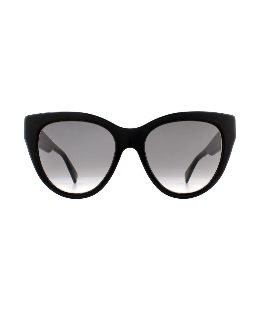 Image for Gucci Sunglasses GG0460S 001 Black Grey Gradient