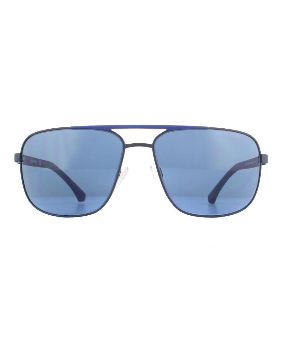Image for Emporio Armani Sunglasses EA2084 300380 Matte Blue Blue