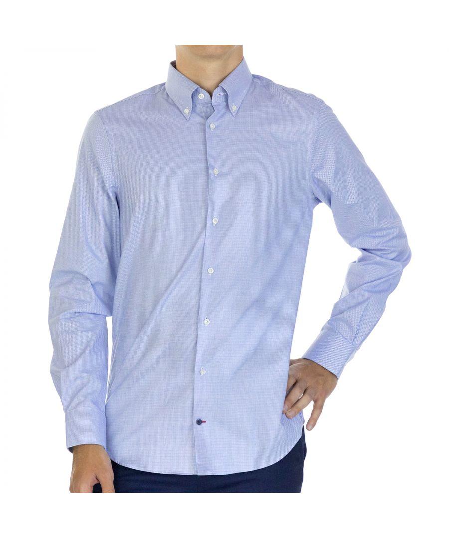 Image for Tommy Hilfiger Men Shirt Slim Fit  Full sleeve Blue