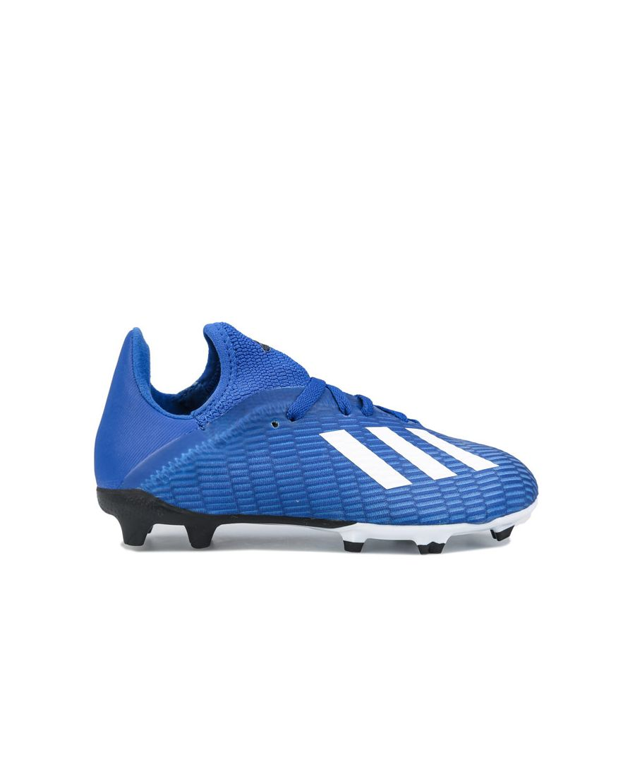 Image for Boys' adidas Junior X 19.3 Firm Ground Football Boots royal white