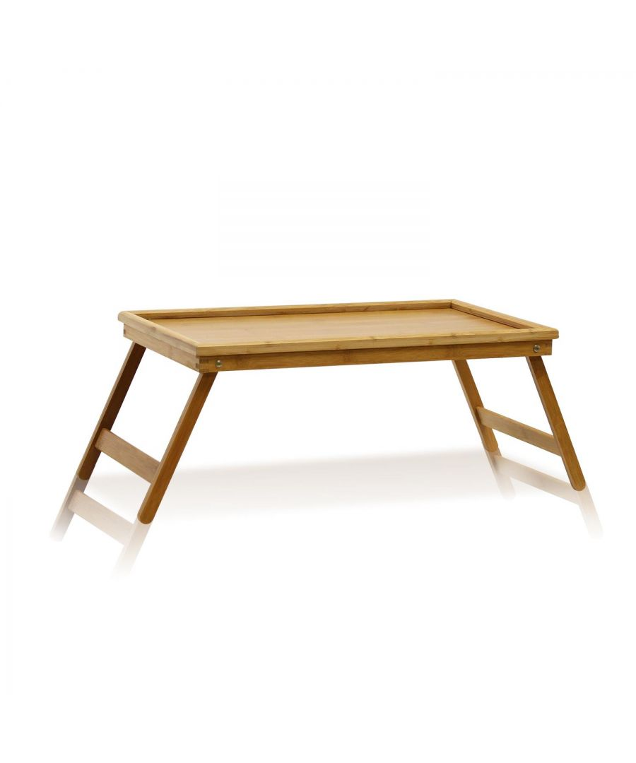Image for Furinno FNCL-33010 Bamboo Lapdesk Bed Tray, Natural