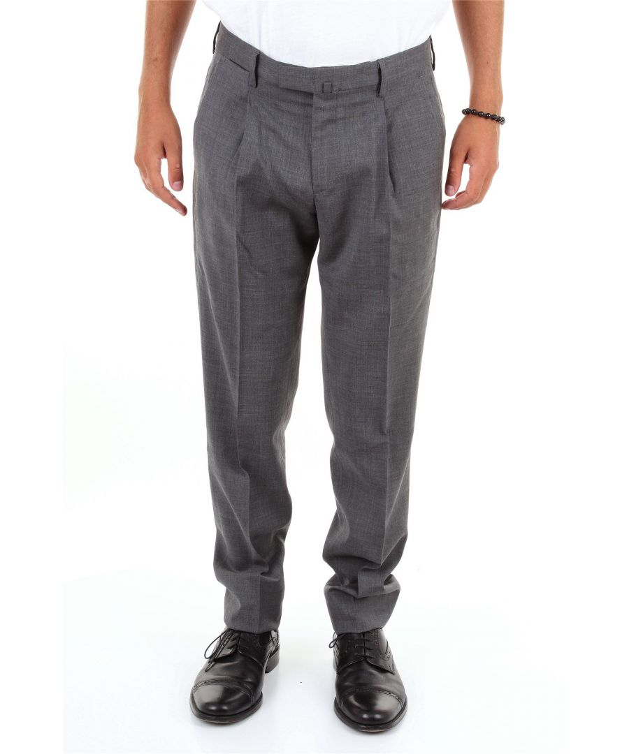 Image for BRIGLIA 1949 MEN'S BG07S39106GRIGIOSCURO GREY COTTON PANTS