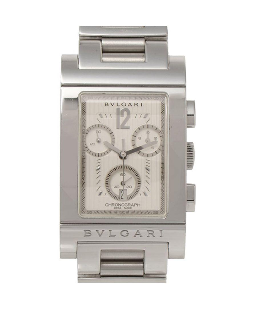 Image for Vintage Bvlgari Rettangolo Chrono Quartz Silver