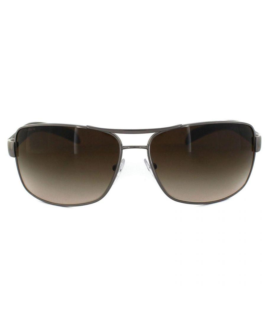 Image for Prada Sport Sunglasses 54IS 5AV6S1 Gunmetal Brown Gradient